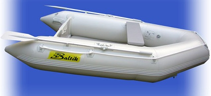 8 5' White Inflatable Boat with High Pressure Air Deck Floor