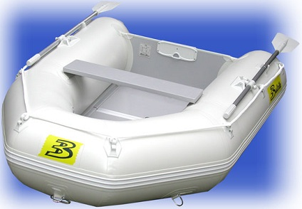 8 5 White Inflatable Boat With Coated Wooden Panel Floor