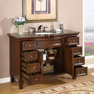 high quality 48 bathroom vanity cabinet with english
