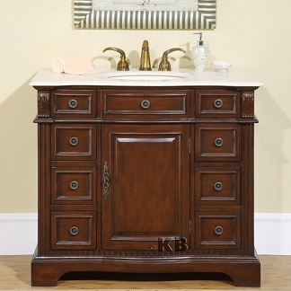 High Quality Bathroom Vanity With Marble Stone Top Sink
